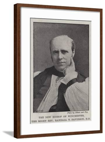 The New Bishop of Winchester, Right Reverend Randall T Davidson, Dd--Framed Art Print