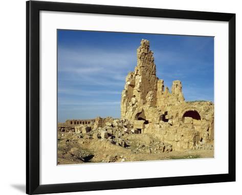 Syria. Resafa. Archaeological Site. Basilica of Saint Sergius. 5th Century. Byzantine Period--Framed Art Print