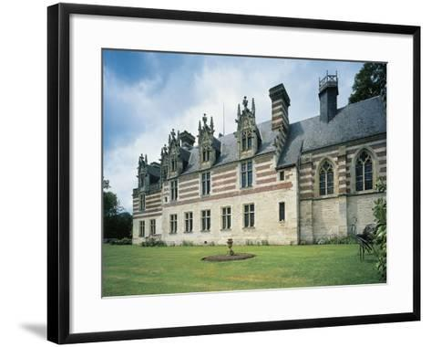 Fountain in Front of a Castle, Chateau D'Etelan, St-Maurice-D'Etelan, Haute-Normandy, France--Framed Art Print