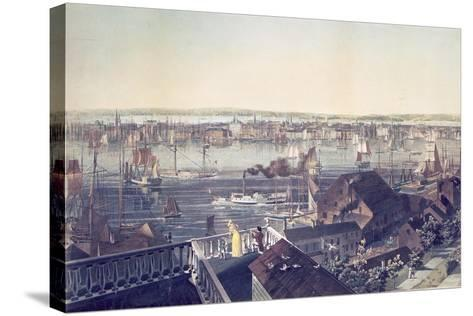 View of Manhattan from Brooklyn, 1837--Stretched Canvas Print