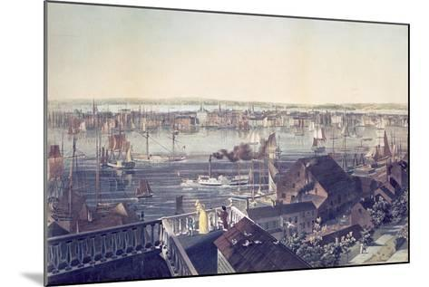 View of Manhattan from Brooklyn, 1837--Mounted Giclee Print