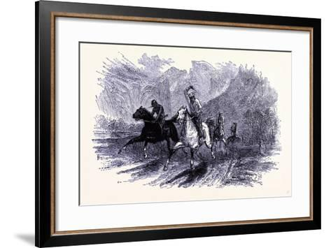 A Horse Race United States of America--Framed Art Print