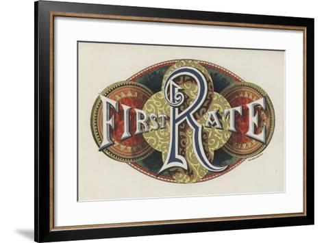 Sign Saying First Rate--Framed Art Print