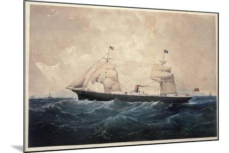 The Steamer Manhattan--Mounted Giclee Print