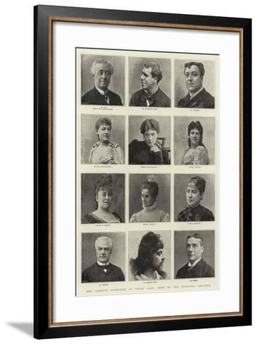 The Comedie Francaise at Drury Lane, Some of the Principal Artistes--Framed Art Print