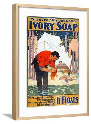 Advertisement for Ivory Soap, C.1898--Framed Art Print