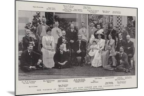 The Viceroy of India, Lord and Lady Curzon and the Vigeregal Staff--Mounted Giclee Print