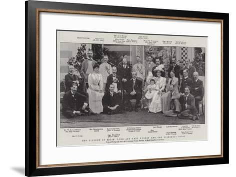 The Viceroy of India, Lord and Lady Curzon and the Vigeregal Staff--Framed Art Print