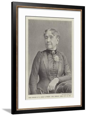 The Jubilee of a Great Actress, Mrs Keeley, Born 22 November 1805--Framed Art Print