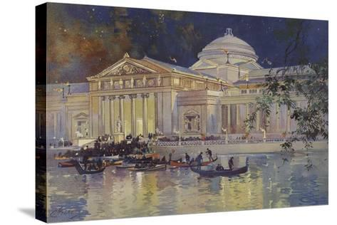 Art Palace at Night--Stretched Canvas Print