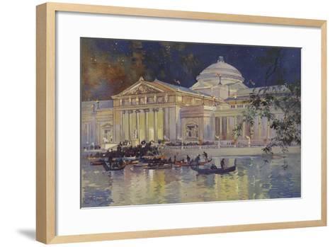 Art Palace at Night--Framed Art Print