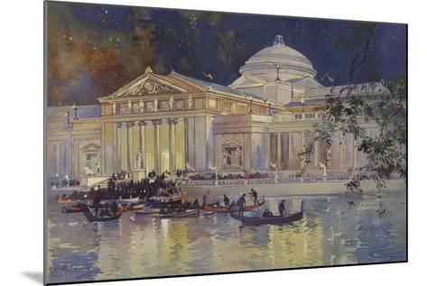 Art Palace at Night--Mounted Giclee Print