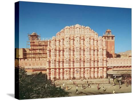 Hawa Mahal (Palace of the Winds) Built in 1799 (See also 121219 and 208425)--Stretched Canvas Print