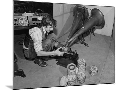 A Man Wax Concert Music Cylinders on an Edison Phonograph, Museum of Science and Industry--Mounted Photographic Print