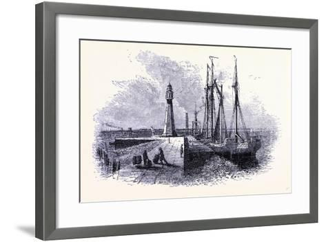 A Lighthouse at Buffalo United States of America--Framed Art Print