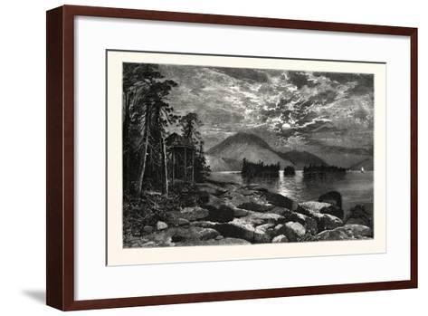 View from Fourteen-Mile Island, Lake George, USA--Framed Art Print