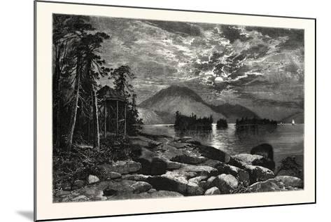 View from Fourteen-Mile Island, Lake George, USA--Mounted Giclee Print