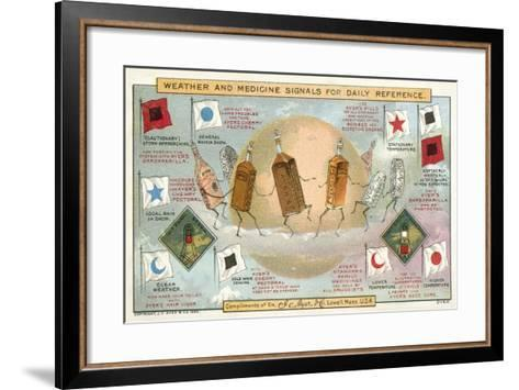 Weather and Medicine Signals for Daily Reference--Framed Art Print