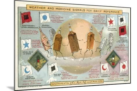 Weather and Medicine Signals for Daily Reference--Mounted Giclee Print