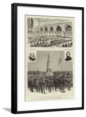 The National Armada Tercentenary Commemoration Memorial at Plymouth--Framed Art Print