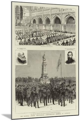The National Armada Tercentenary Commemoration Memorial at Plymouth--Mounted Giclee Print