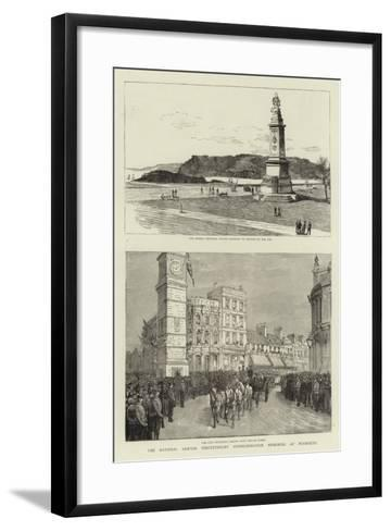 The National Armada Tercentenary Commemoration Memorial at Plymouth--Framed Art Print