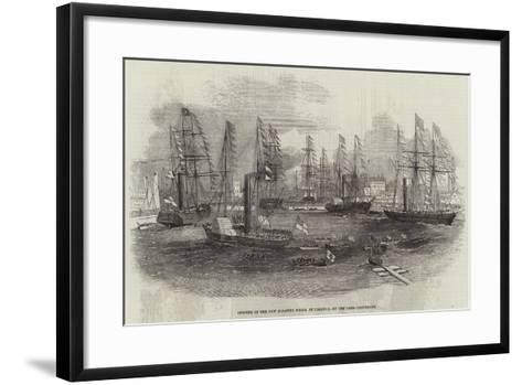 Opening of the New Floating Docks, at Limerick, by the Lord-Lieutenant--Framed Art Print