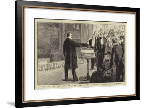 Cutting the Baddeley Twelfth Cake on the Stage of Drury Lane Theatre--Framed Art Print