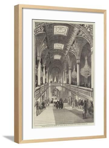Great Exhibition Fetes at Paris, Hotel De Ville, the Grand Staircase--Framed Art Print