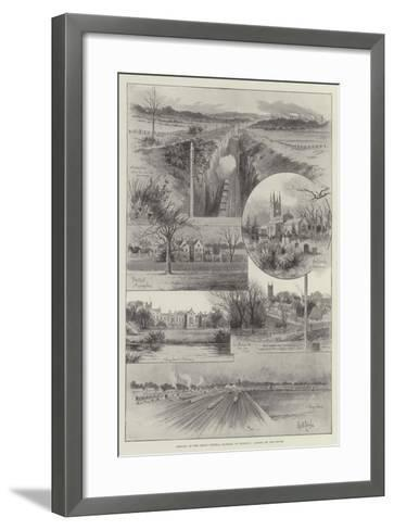 Opening of the Great Central Railway on 9 March, Scenes on the Route--Framed Art Print