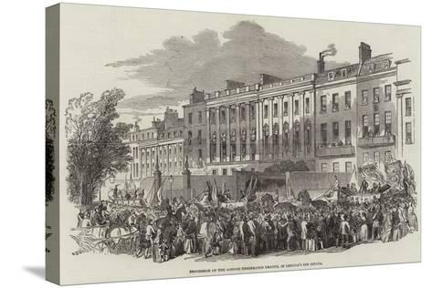 Procession of the London Temperance League, in Lincoln's Inn Fields--Stretched Canvas Print