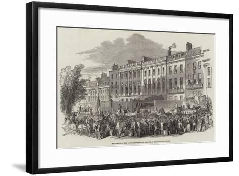 Procession of the London Temperance League, in Lincoln's Inn Fields--Framed Art Print