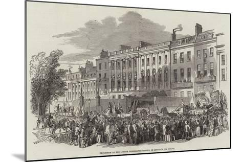 Procession of the London Temperance League, in Lincoln's Inn Fields--Mounted Giclee Print