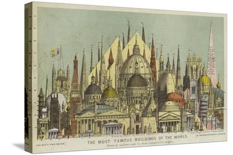 The Most Famous Buildings of the World, Showing Comparative Heights--Stretched Canvas Print
