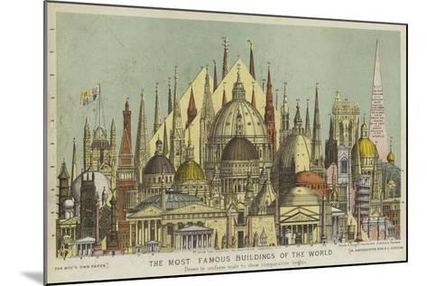 The Most Famous Buildings of the World, Showing Comparative Heights--Mounted Giclee Print