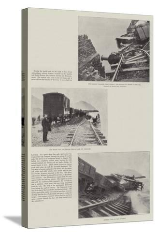 The Railway Disaster Near Conway--Stretched Canvas Print