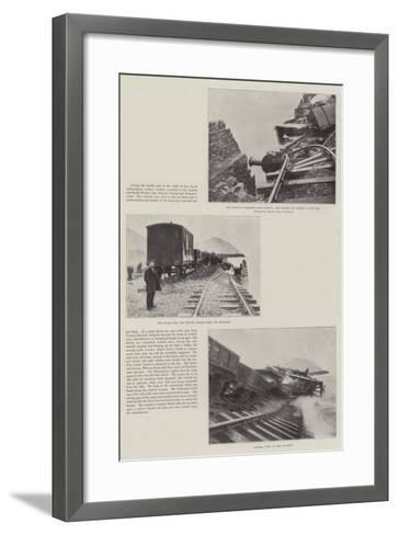 The Railway Disaster Near Conway--Framed Art Print