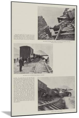 The Railway Disaster Near Conway--Mounted Giclee Print