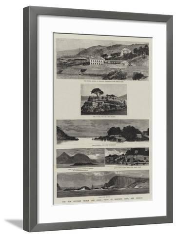 The War Between France and China, Views at Foochow, Amoy, and Formosa--Framed Art Print