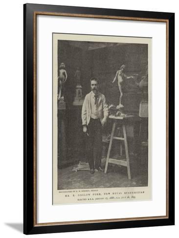 Mr E Onslow Ford, New Royal Academician--Framed Art Print