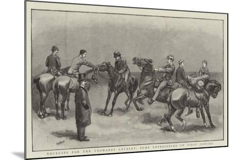Recruits for the Yeomanry Cavalry, Some Experiences on First Joining--Mounted Giclee Print