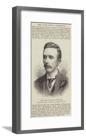 The Late Viscount Cantelupe, Drowned While Yachting in Belfast Lough--Framed Art Print