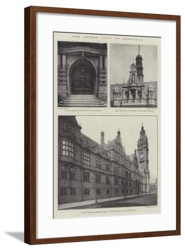 The Queen's Visit to Sheffield--Framed Art Print