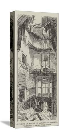 Interior of House, in Langhorne Gardens, Folkestone, after the Storm--Stretched Canvas Print