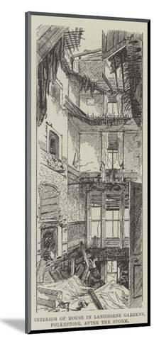 Interior of House, in Langhorne Gardens, Folkestone, after the Storm--Mounted Giclee Print