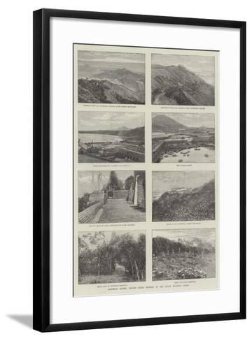 Ascension Island, British Naval Station, in the South Atlantic Ocean--Framed Art Print