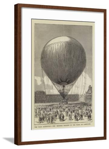 The Paris Exhibition, the Monster Balloon in the Place De Carrousel--Framed Art Print