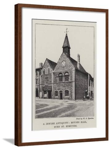 A Jewish Antiquity, Moyses Hall, Bury St Edmunds--Framed Art Print