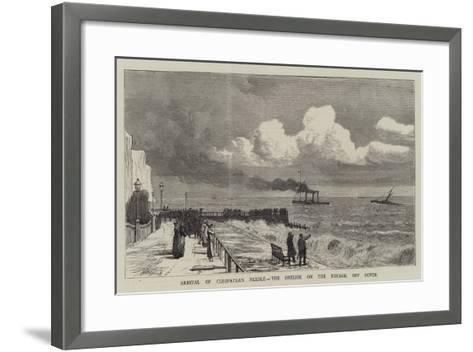 Arrival of Cleopatra's Needle, the Obelisk on the Voyage, Off Dover--Framed Art Print