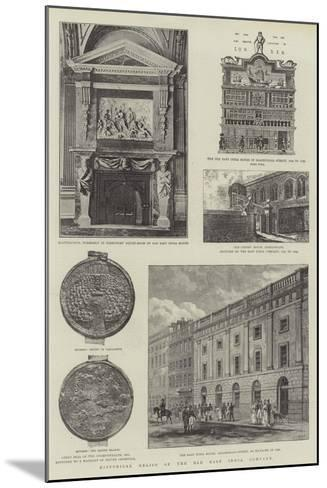 Historical Relics of the Old East India Company--Mounted Giclee Print